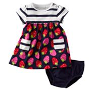 Jumping Beans Striped Strawberry Dress - Baby