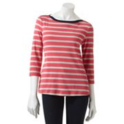 Croft and Barrow Striped Tee - Petite