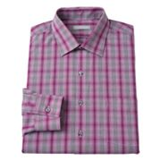 Van Heusen Fitted Plaid Spread-Collar Dress Shirt