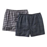 Jockey Classic 2-pk. Woven Plaid Boxers - Big and Tall