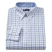 Chaps Classic-Fit Checked Oxford Button-Down Collar Dress Shirt