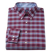 Chaps Classic-Fit Plaid Oxford Button-Down Collar Dress Shirt