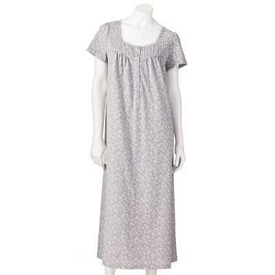 Croft and Barrow Pintuck Henley Nightgown