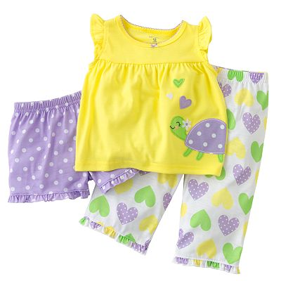 Carter's Turtle Heart Pajama Set - Baby