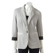 Apt. 9 Striped Roll-Sleeve Blazer