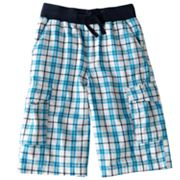 Urban Pipeline Plaid Knit-Waist Cargo Shorts - Boys 8-20