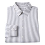 Van Heusen Fitted Striped Point-Collar Dress Shirt
