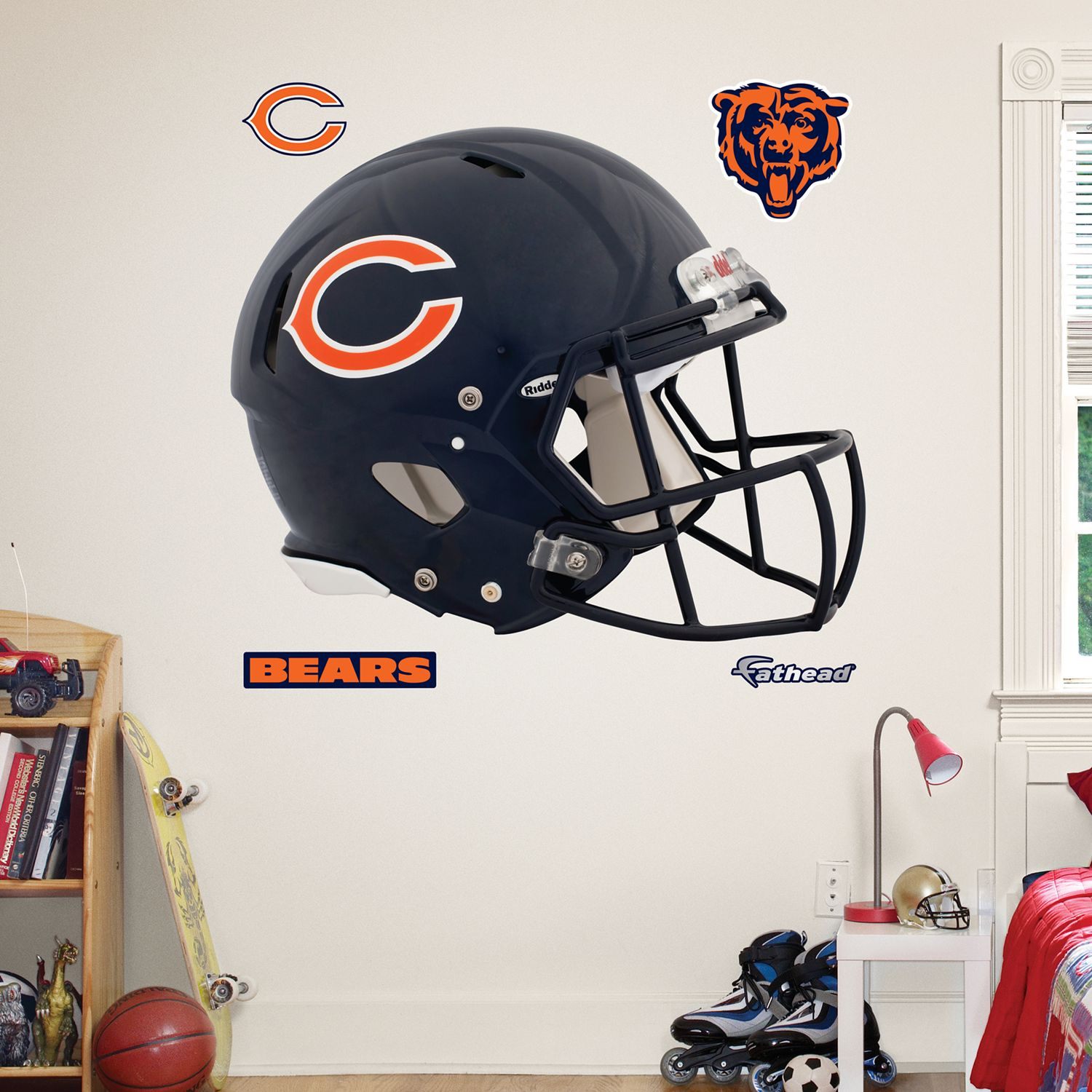 Lovely Fathead Chicago Bears Revolution Helmet Wall Decals Part 25