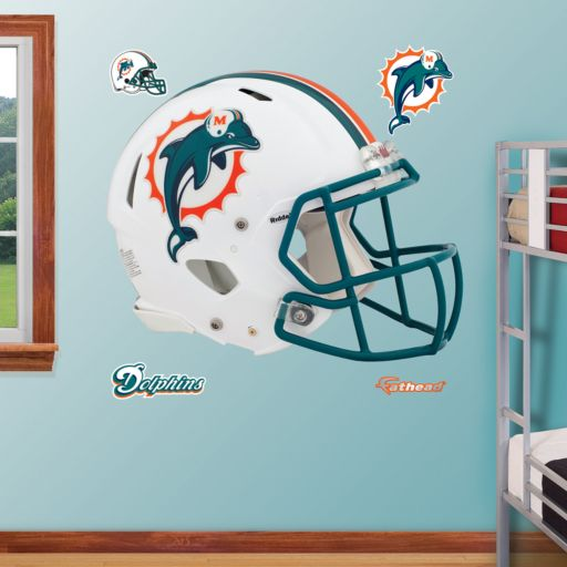 Fathead Miami Dolphins Revolution Helmet Wall Decals