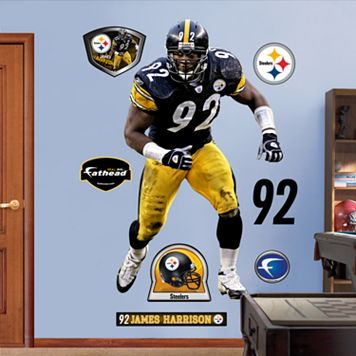 Fathead Pittsburgh Steelers James Harrison Wall Decals