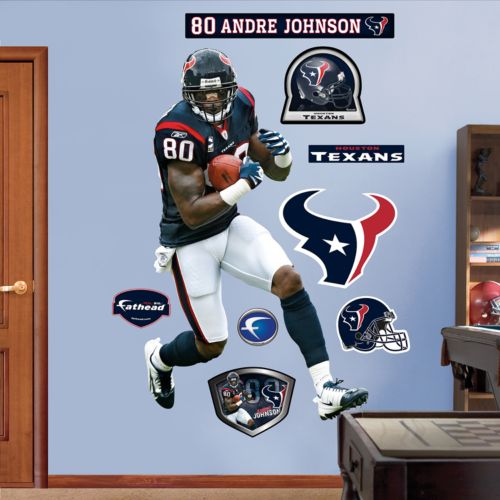 Fathead Houston Texans Andre Johnson Wall Decals