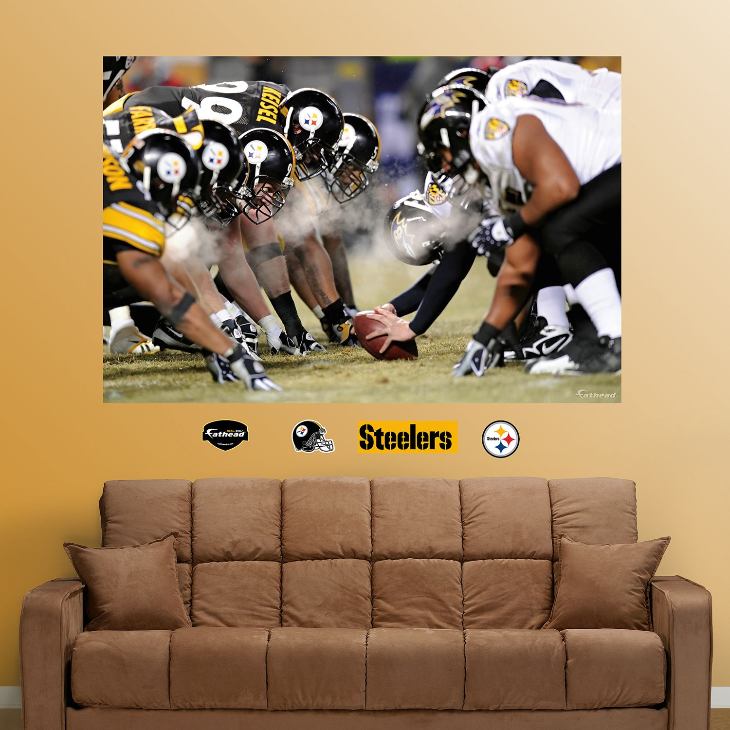 & Fathead Pittsburgh Steelers Mural Wall Decals