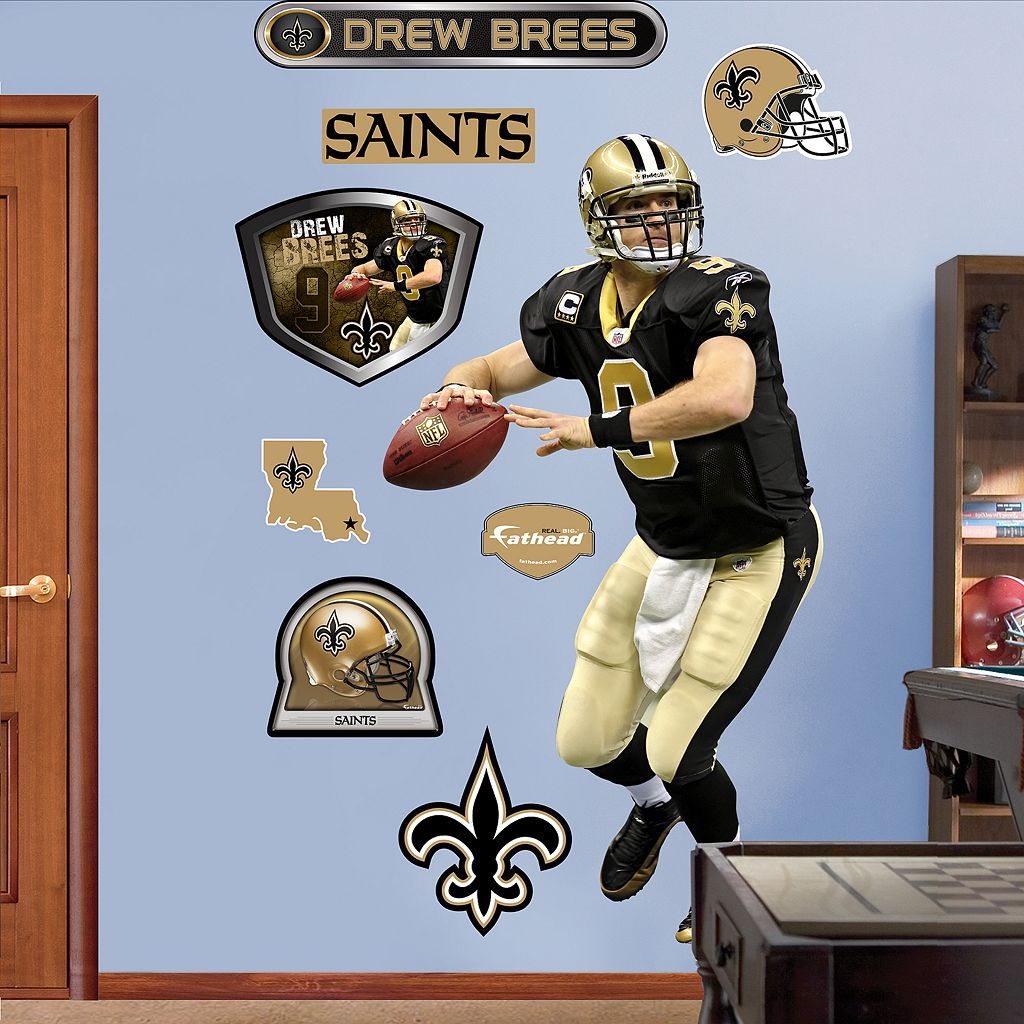 Fathead New Orleans Saints Drew Brees 9-Piece Wall Decals