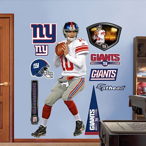 Fathead New York Giants Eli Manning 10-Piece Wall Decals