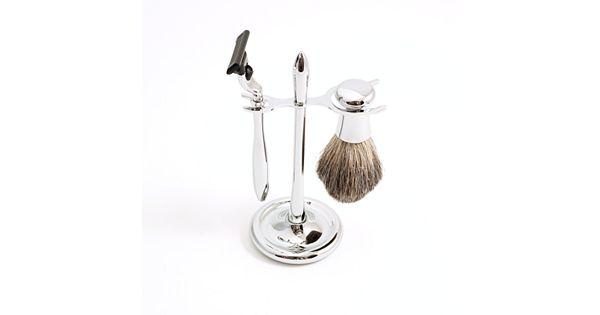 3 pc silver mach3 shaving kit. Black Bedroom Furniture Sets. Home Design Ideas
