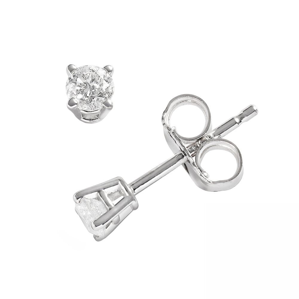 bc6814eb30ebd 14k White Gold 1/5-ct. T.W. Round-Cut Diamond Solitaire Earrings