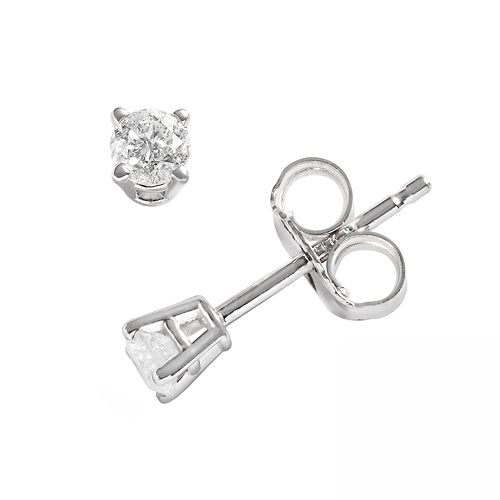 14k White Gold 1/5-ct. T.W. Round-Cut Diamond Solitaire Earrings