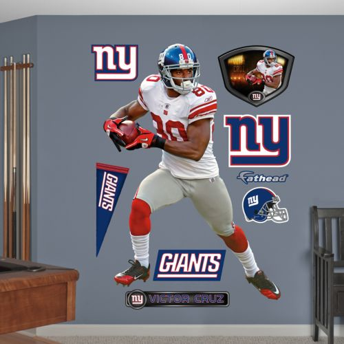 Fathead New York Giants Victor Cruz Wall Decals