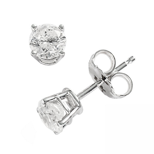 2712dd9ed T.W. Round-Cut Diamond Solitaire Earrings