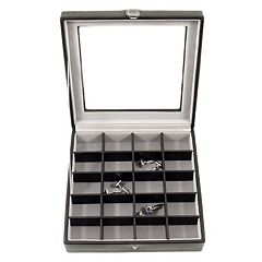 Glass-Lid Cuff Link Case