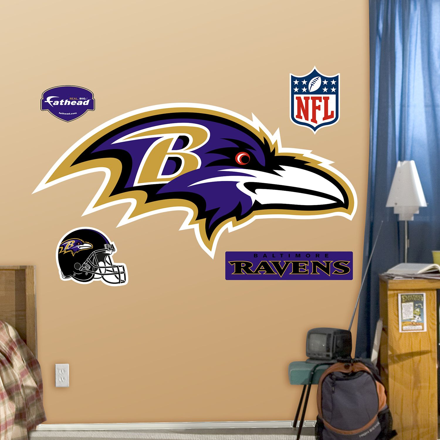 & Fathead Baltimore Ravens Logo Wall Decals