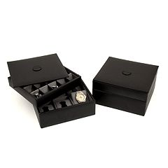 Watch & Cuff Link Leather Box