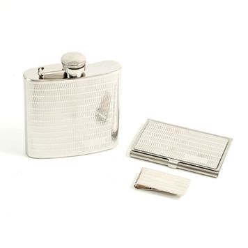 3-pc. Flask & Money Clip Set