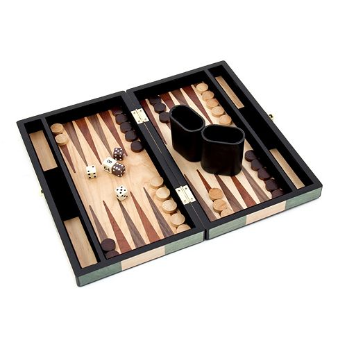 12-in. Wooden Backgammon Set