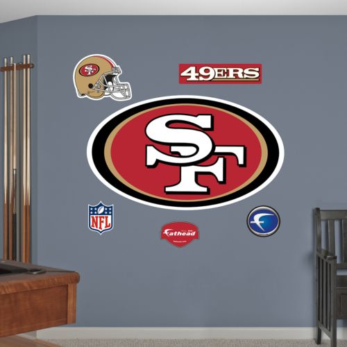 Fathead San Francisco 49ers Logo Wall Decals