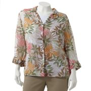 Cathy Daniels Leaf Shirt Set - Women's Plus