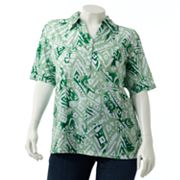 Cathy Daniels Geometric Polo - Women's Plus