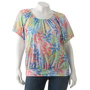 Cathy Daniels Leaf Embellished Top - Women's Plus