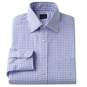 Chaps Classic-Fit Checked Spread-Collar Dress Shirt