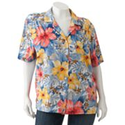 Cathy Daniels Floral Camp Shirt - Women's Plus