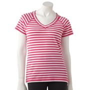 Danskin Striped Raglan Tee