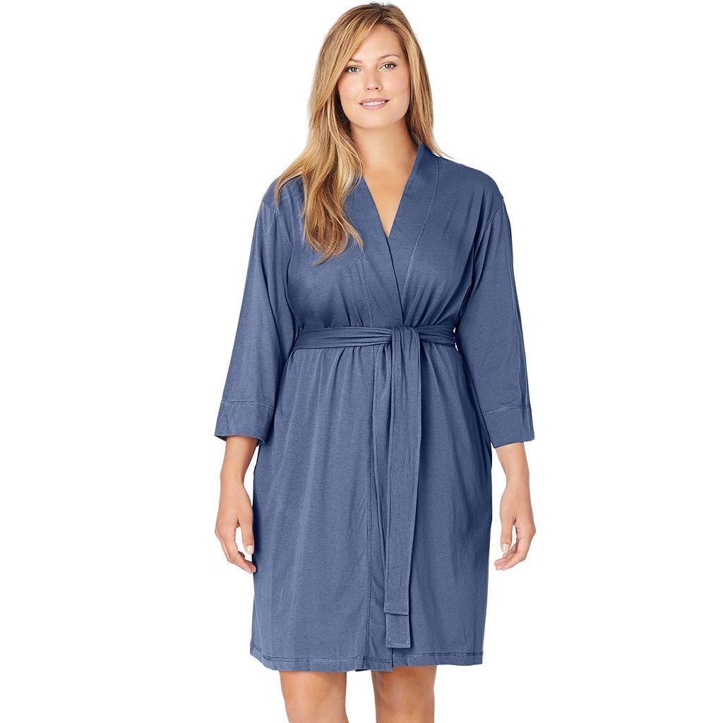 Plus Size Jockey Wrap Robe