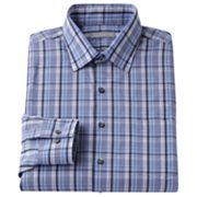 Van Heusen Fitted Plaid Point-Collar Dress Shirt