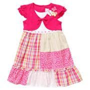 Youngland Mock-Layer Patchwork Dress - Girls 4-6x
