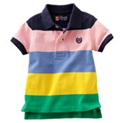 Chaps Wide-Striped Polo - Baby