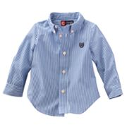 Chaps Yarn-Dyed Striped Woven Shirt - Baby