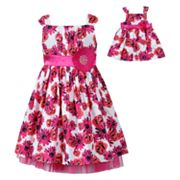 Dollie and Me Floral Sundress - Girls 4-6x