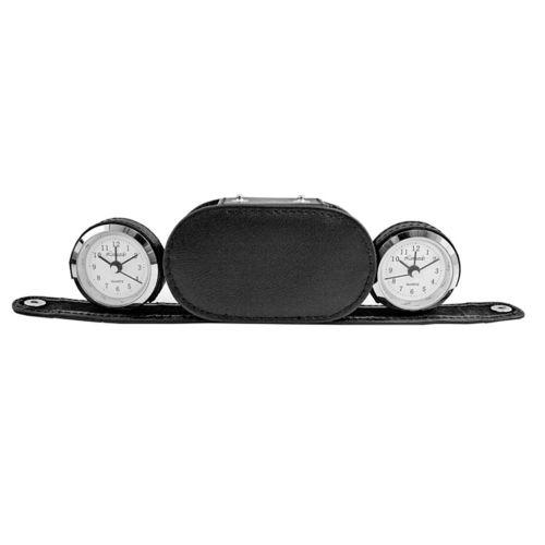 Dual Time Alarm Clock in Case