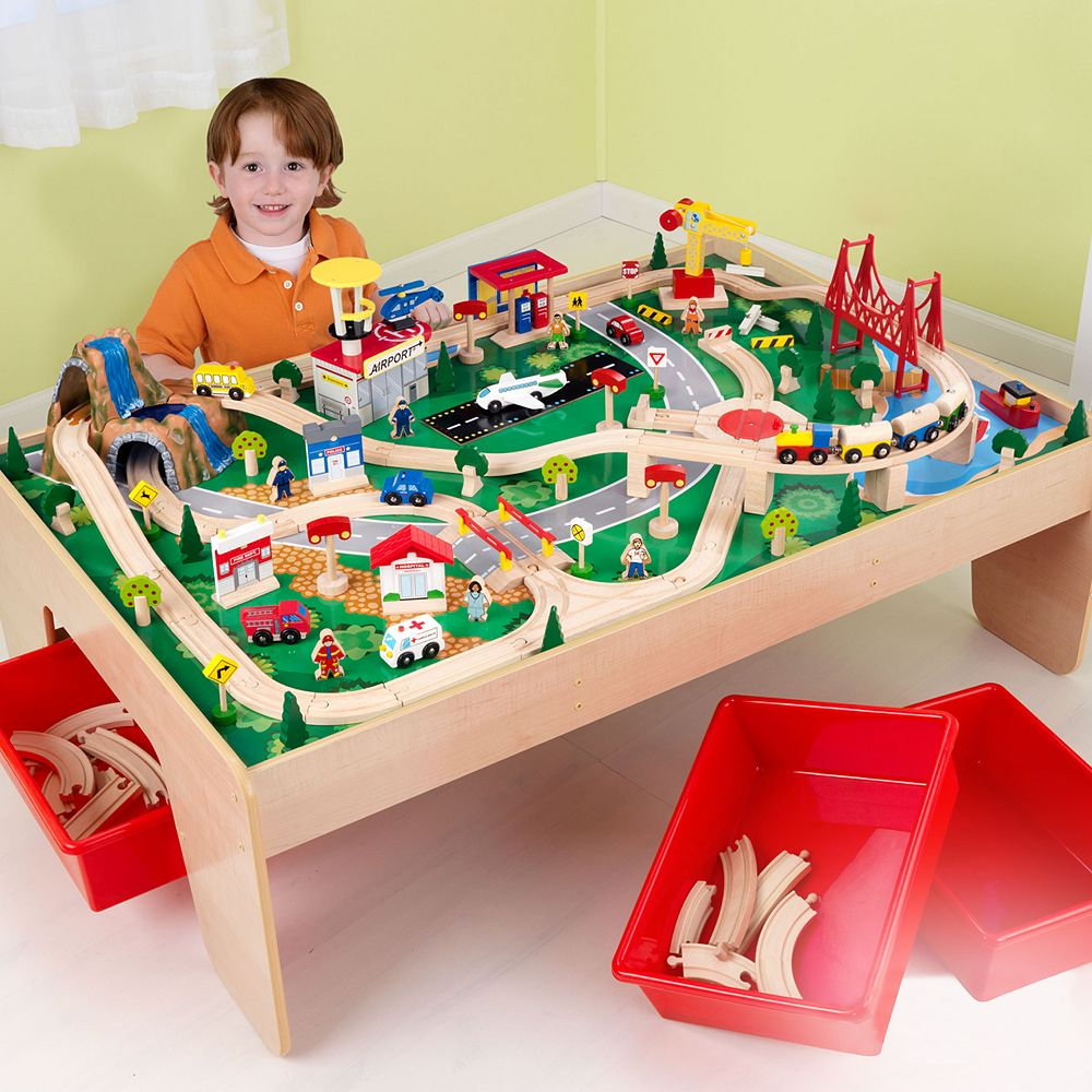 Waterfall Mountain Train Set Table