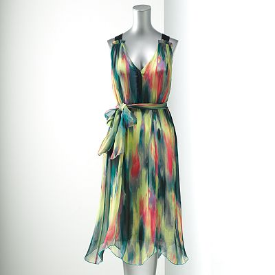 Simply Vera Vera Wang Splatter Chiffon Dress