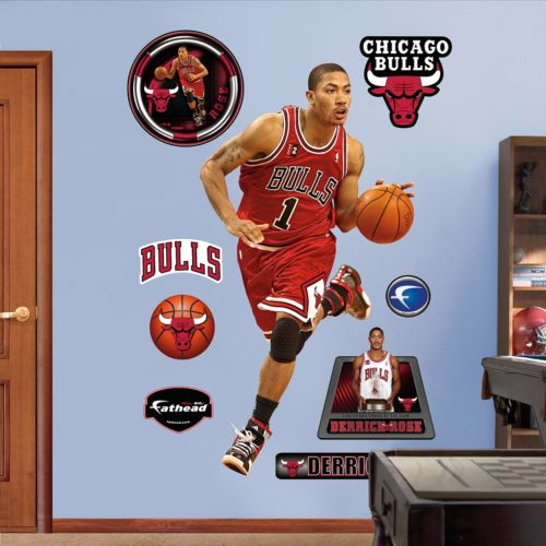 Fathead Chicago Bulls Derrick Rose Rookie Wall Decals