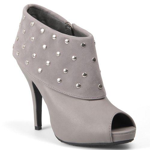 Journee Collection Rhythm Peep-Toe High Heel Booties - Women