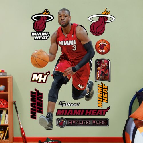 Fathead Miami Heat Dwyane Wade Wall Decals