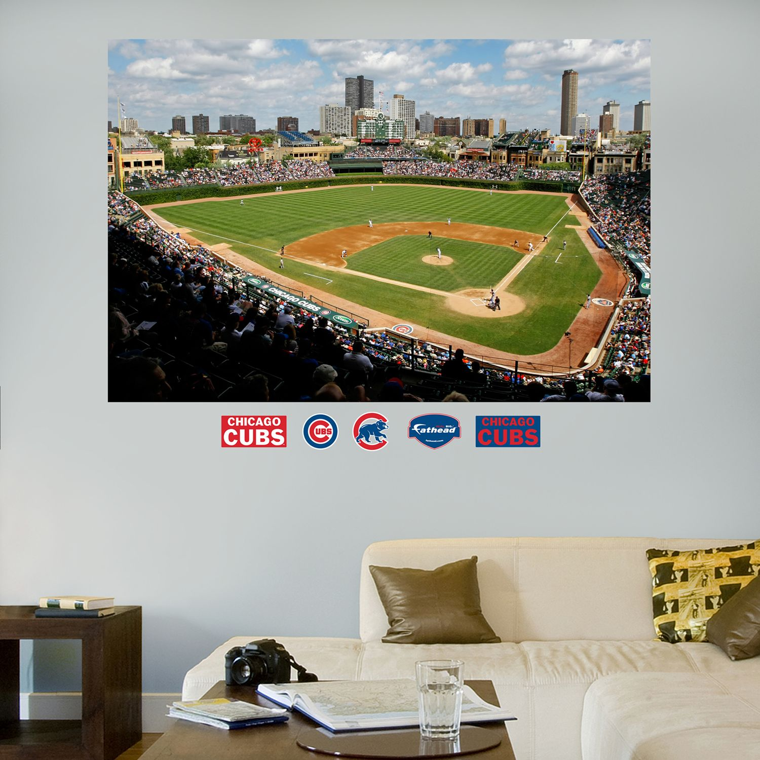 Lovely Fathead Chicago Cubs Wrigley Field Mural Wall Decals Amazing Design
