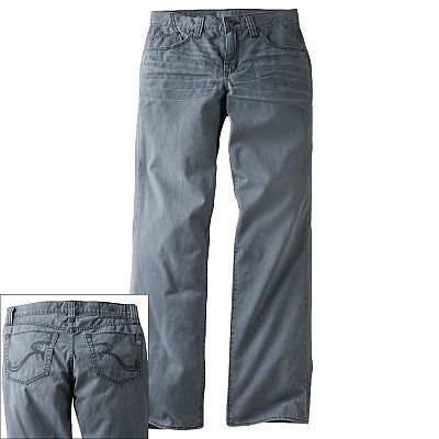 Rock and Republic Twill Slim-Straight Jeans