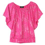 IZ Amy Byer Sequin Batwing Top - Girls 4-6x